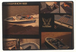 An old image compilation of the 18 Bowrider, an older formula boat model and its features. This is to show how far designs and boating has changed through the years.